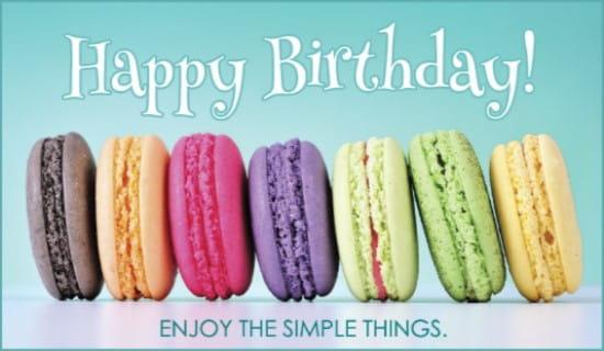 Enjoy Simple Things ecard, online card