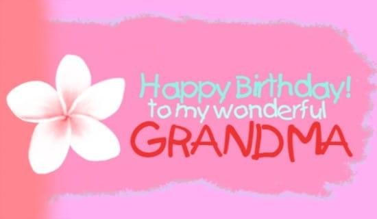 Grandma Ecard Online Card