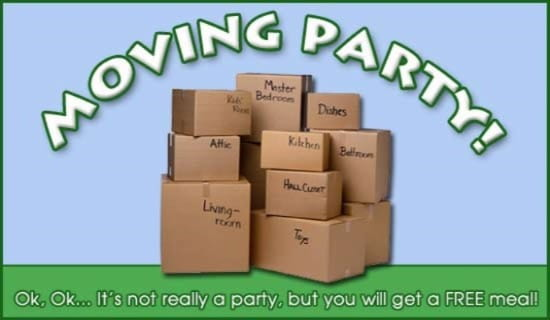 Moving Party ecard, online card
