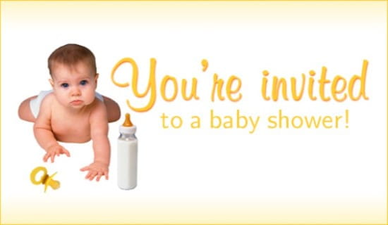 You're Invited To A Baby Shower ecard, online card