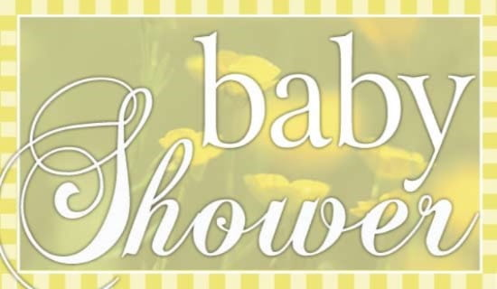 Baby shower ecard, online card