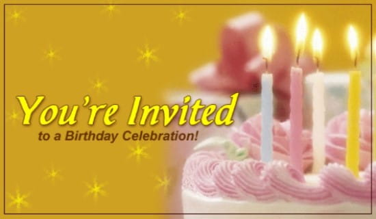 You're Invited To A Birthday Celebration ecard, online card