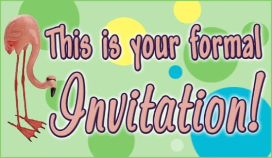 Formal Invitation ecard, online card