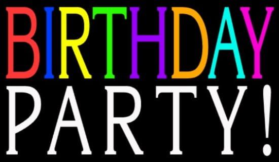 Birthday Party ecard, online card