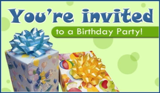 Birthday Party Ecard Online Card