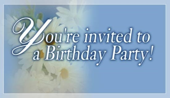You're Invited To a Birthday Party ecard, online card