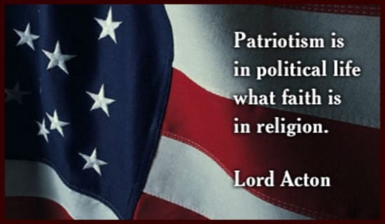 Lord Acton On Patriotism ecard, online card