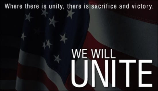 We Will Unite! ecard, online card