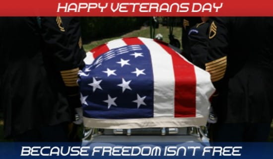Happy Veterans' Day ecard, online card