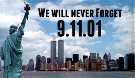 We Will Never Forget 9/11/01 ecard, online card