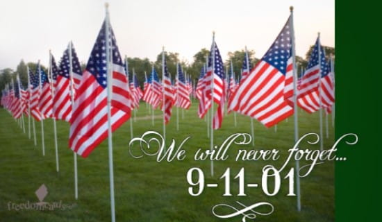 We Will Never Forget 9-11 ecard, online card