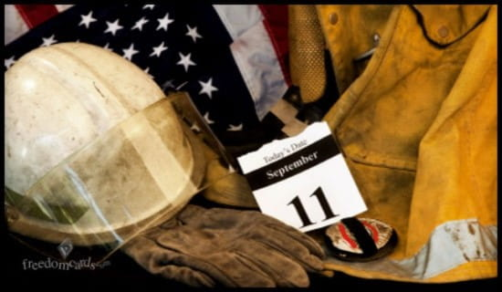 Firefighters of 9/11 ecard, online card