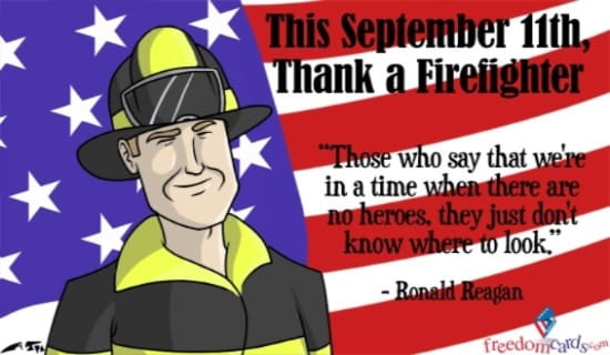 Thank a Firefighter ecard, online card