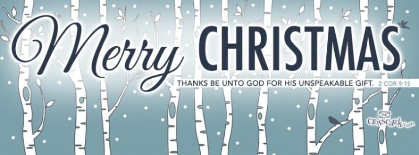 Merry Christmas - 2 Cor 9:15 mobile phone wallpaper