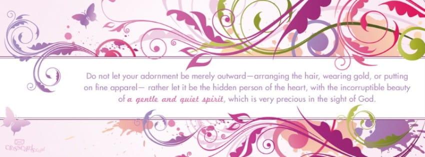 Gentle and Quiet Spirit mobile phone wallpaper