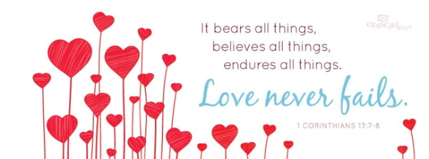 Love Never Fails  mobile phone wallpaper