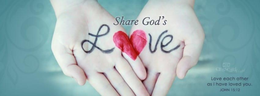 Share God's Love mobile phone wallpaper