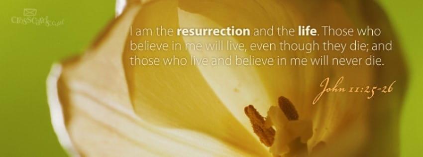 John 11:25-26 mobile phone wallpaper