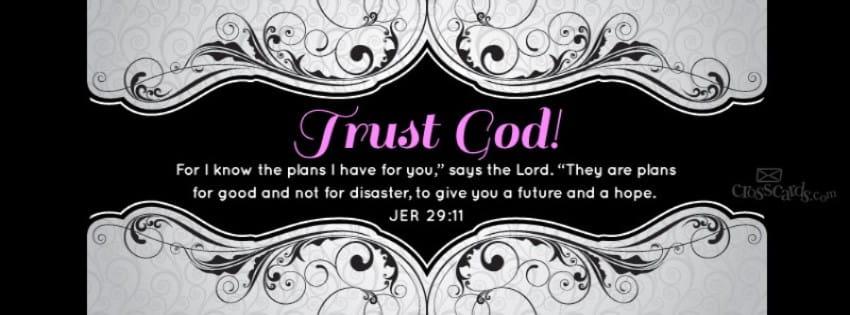 Trust God mobile phone wallpaper