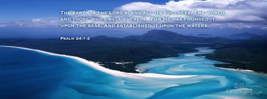 Psalm 24:1-2 mobile phone wallpaper