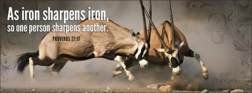 Iron Sharpens Iron mobile phone wallpaper