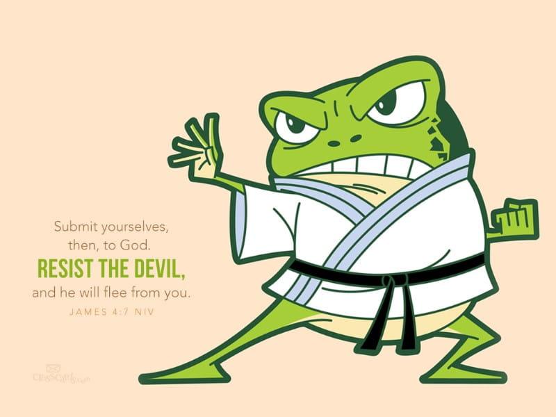 Resist the Devil mobile phone wallpaper