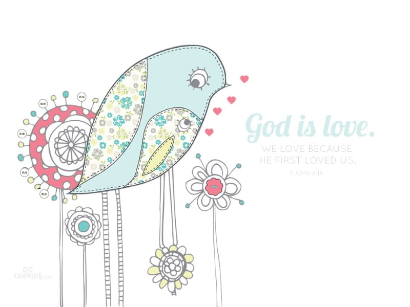 God is Love ecard, online card