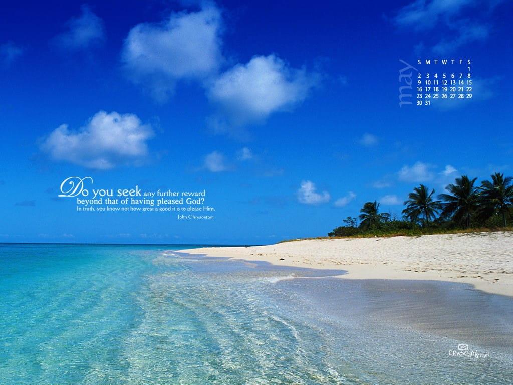 Beach Quotes Wallpaper: Pleasing God Desktop Wallpaper