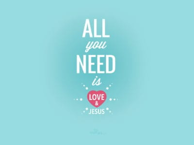 Need Love & Jesus mobile phone wallpaper
