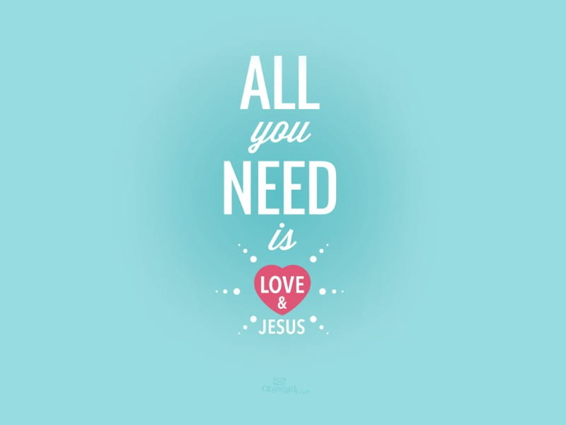 Need Love & Jesus mobile phone wallpaper