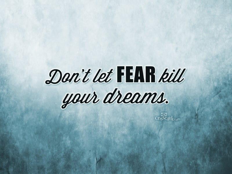 Don't Let Fear mobile phone wallpaper