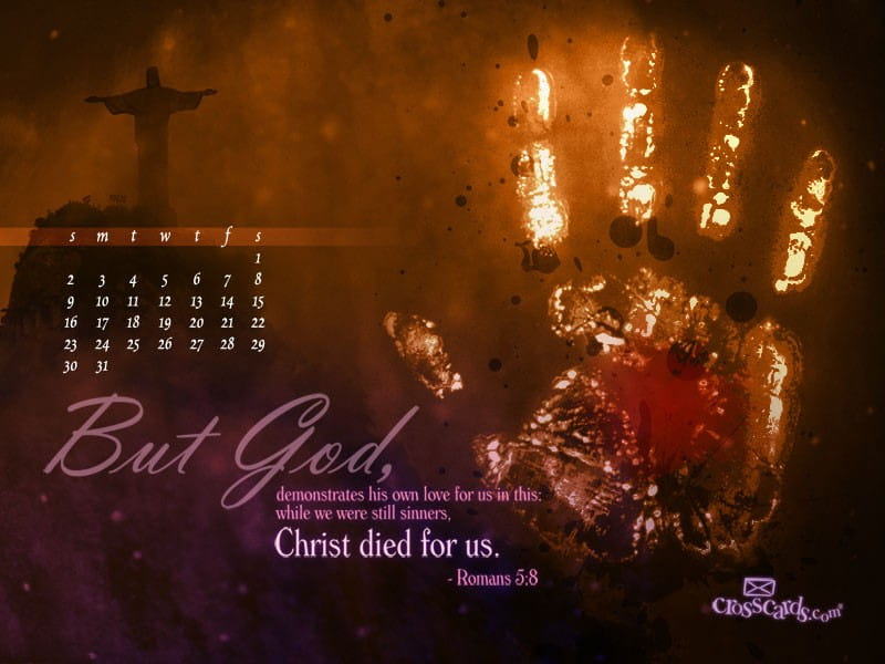 January 2011 - Romans 5:8 mobile phone wallpaper