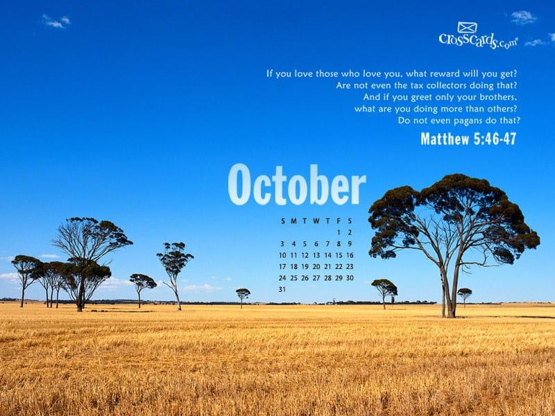 October 2010 - Matthew 5:46-47 mobile phone wallpaper