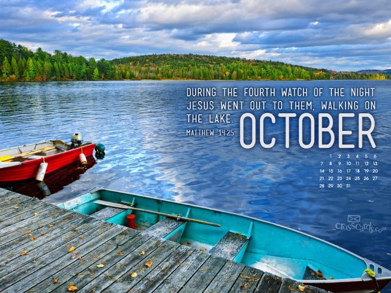 Oct 2012 - Matt 14:25 mobile phone wallpaper