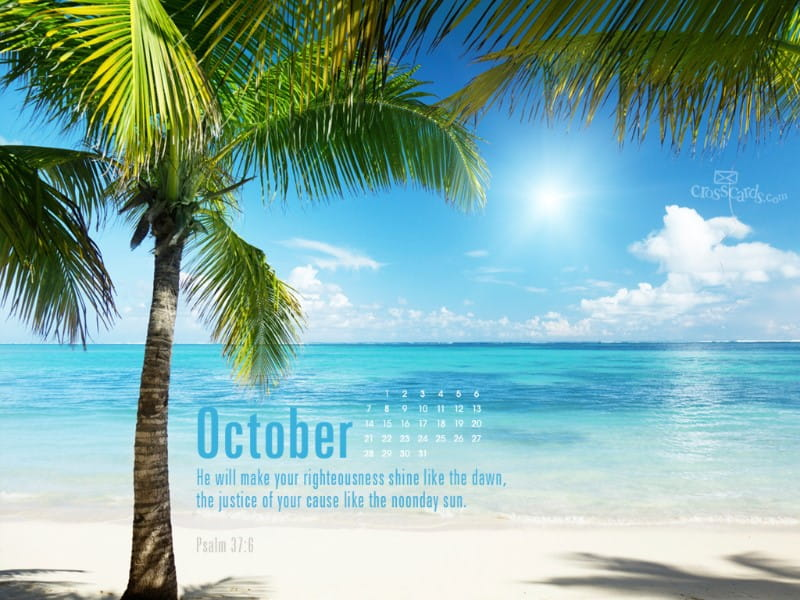 Oct 2012 - Psalm 37:6 mobile phone wallpaper
