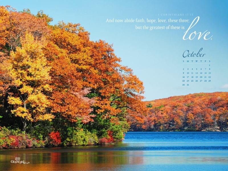 October 2011 - Faith, Hope, Love mobile phone wallpaper