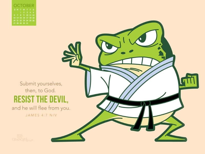 Oct 2013 - Resist the Devil mobile phone wallpaper
