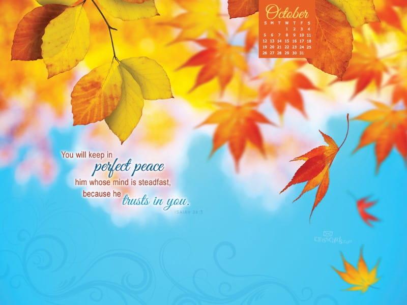 October 2014 - Perfect Peace mobile phone wallpaper