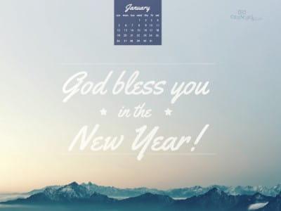 Jan 2014 - God Bless mobile phone wallpaper