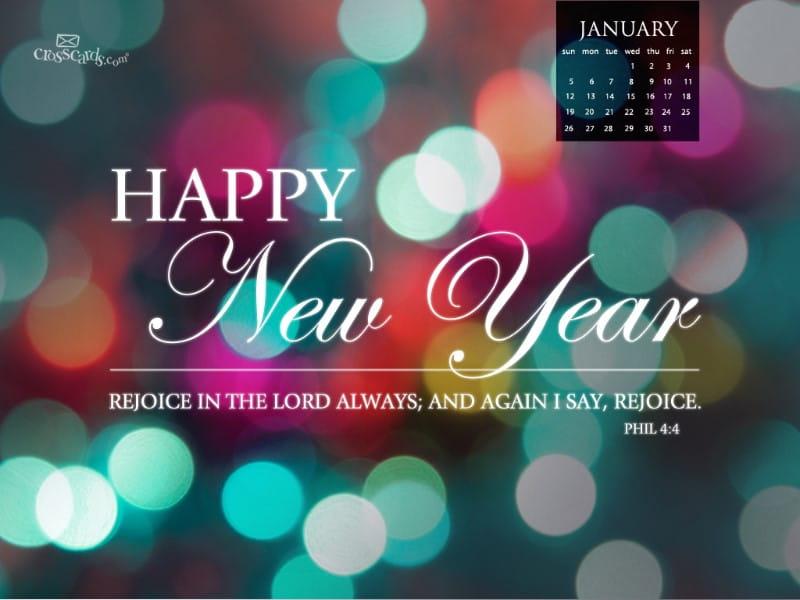 Jan 2014 - New Year mobile phone wallpaper
