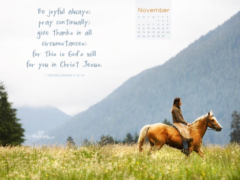 Nov 2012 - Give Thanks mobile phone wallpaper