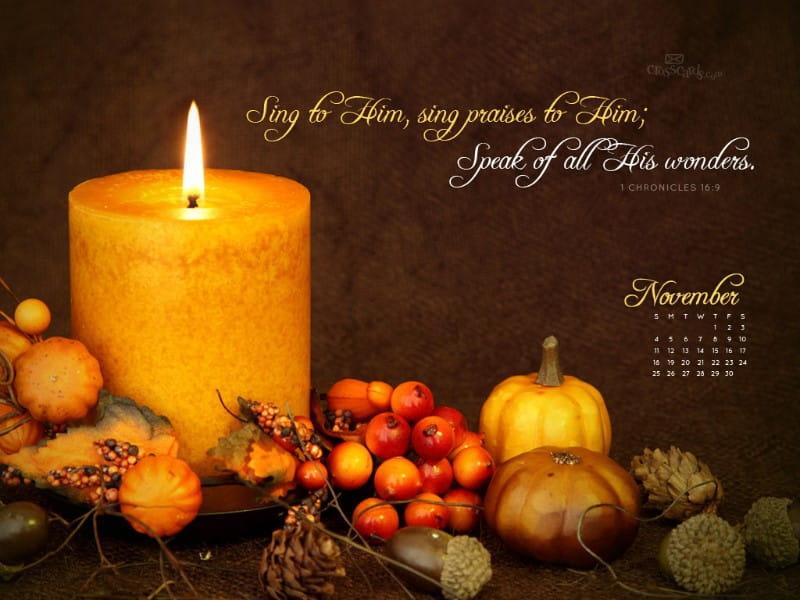 Nov 2012 - Sing Praise mobile phone wallpaper