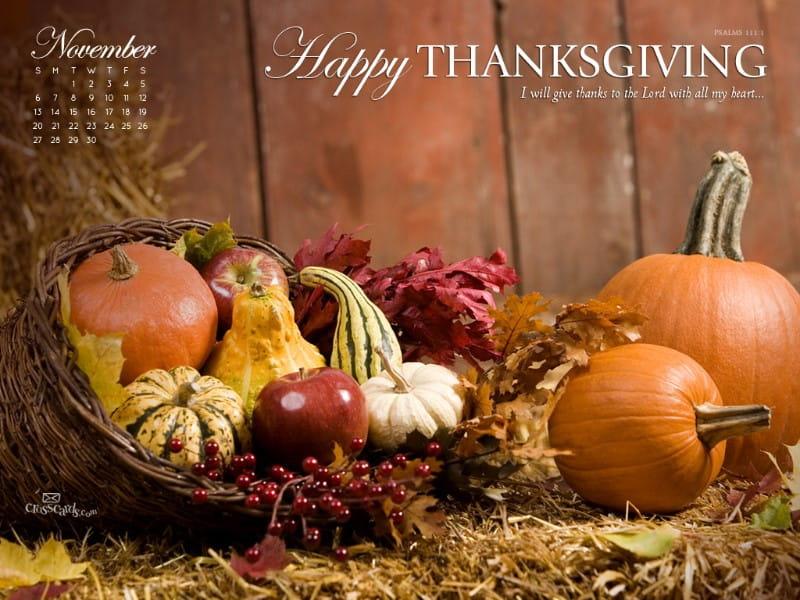 November 2011 - Thanksgiving mobile phone wallpaper
