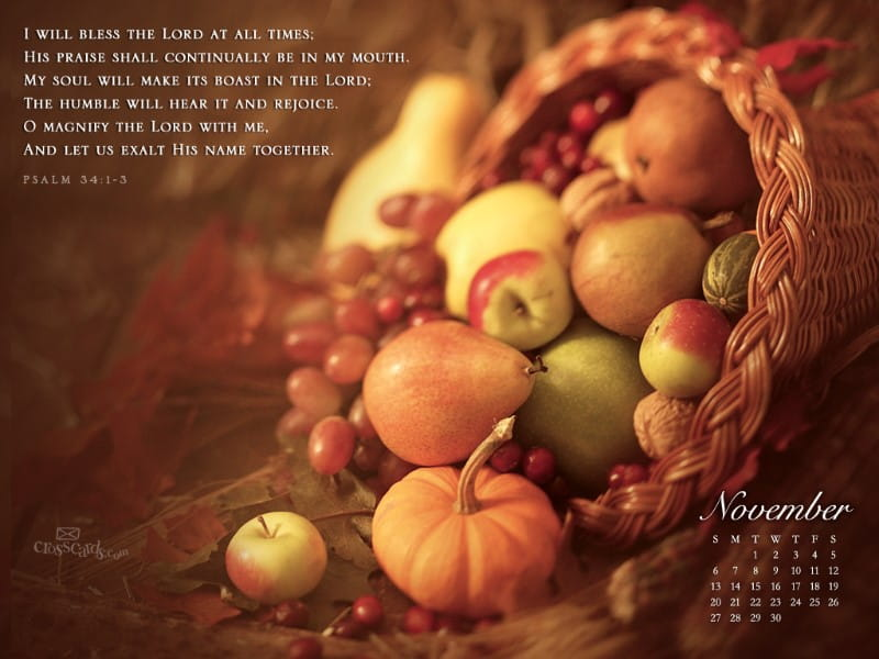 November 2011 - Bless the Lord mobile phone wallpaper