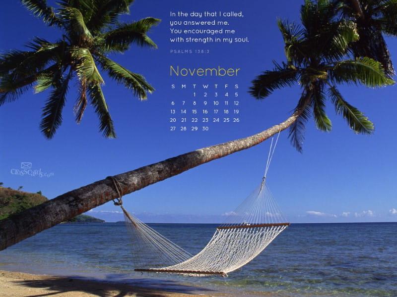 November 2011 - Psalm 138:3 mobile phone wallpaper