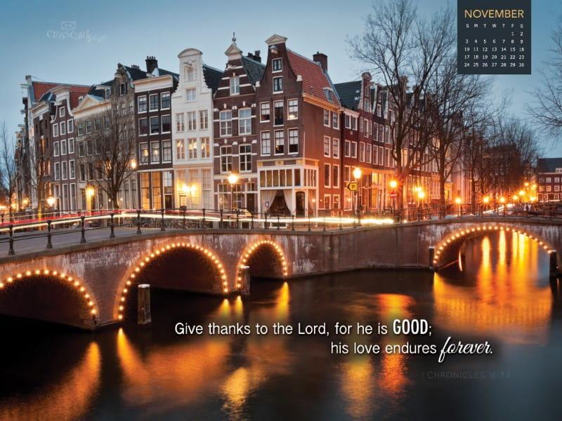 Nov 2013 - Give Thanks mobile phone wallpaper