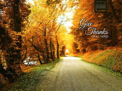 November 2014 - Give Thanks mobile phone wallpaper