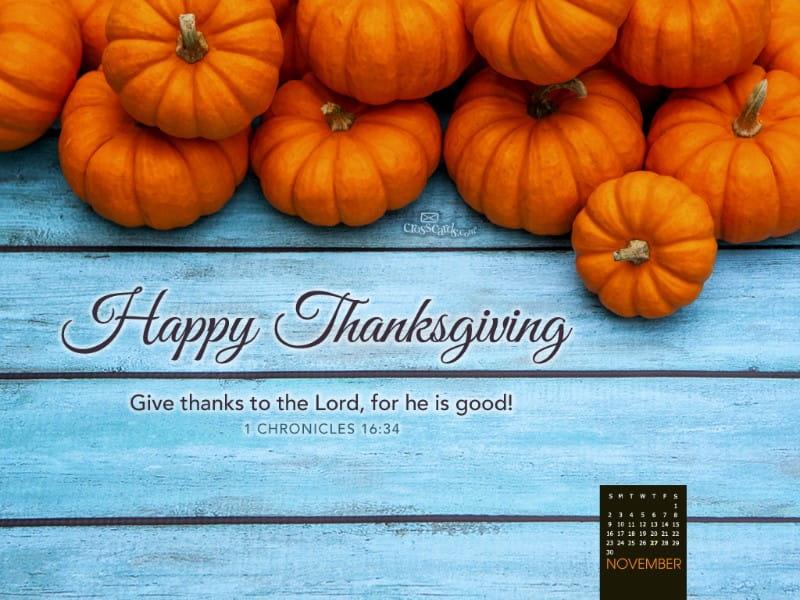 November 2014 - Happy Thanksgiving mobile phone wallpaper
