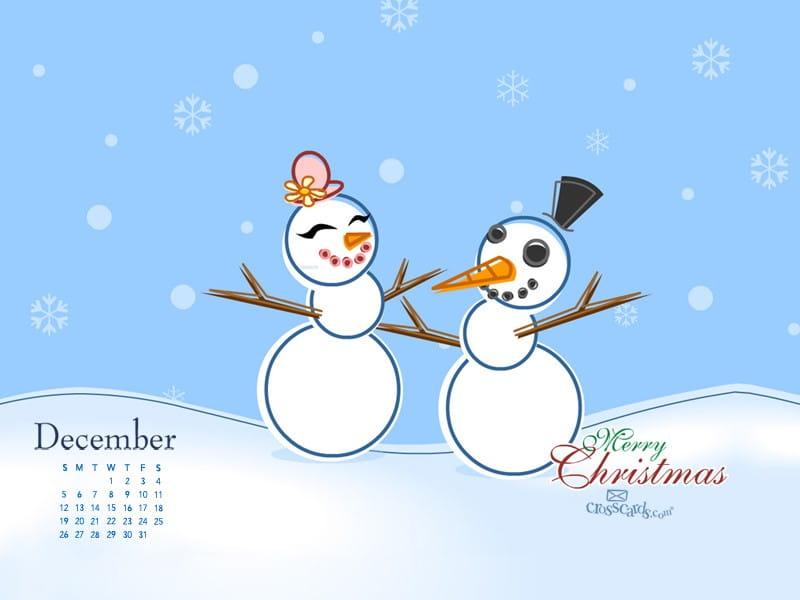 December 2010 - Snowman mobile phone wallpaper