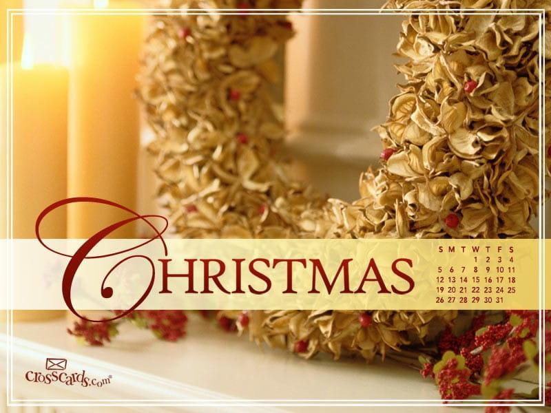 December 2010 -Wreath mobile phone wallpaper